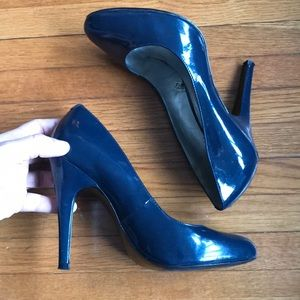Mossimo Navy Blue Patent Leather Heels sz 7.5